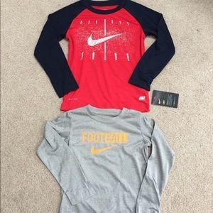 4T Nike Dri-fit long sleeve shirts NWT